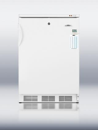 VT65MLPLUS 24 inch  Compact All-freezer with Traceable thermometer  Factory installed lock  Adjustable thermostat and Pull-out drawers in White: Freestanding