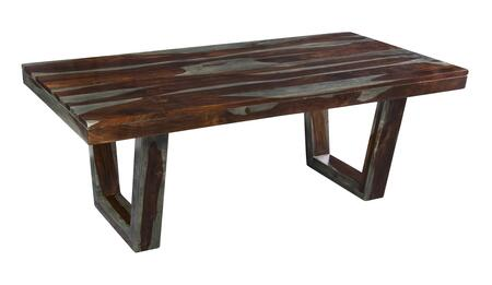 75305 80 inch  Dining Table with Natural Multi-Toned Grain Patterns  U-Shaped Legs and Stretchers in Grayson