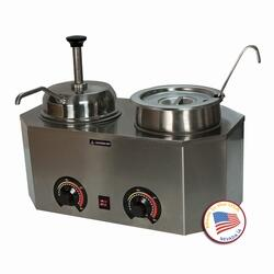2029E 19.75 inch  Pro-Deluxe #10 Can Warmer-Dual Unit with Stainless Steel
