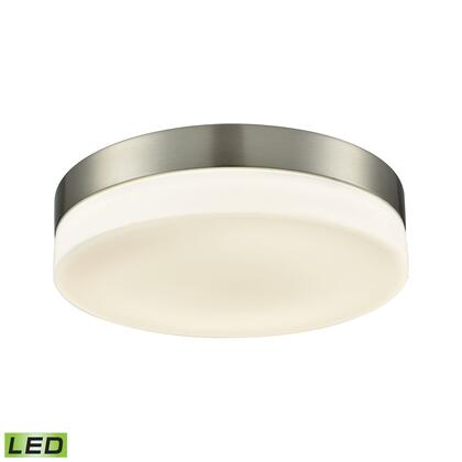 FML4075-10-16M Holmby 1 Light Round Flushmount In Satin Nickel With Opal Glass -