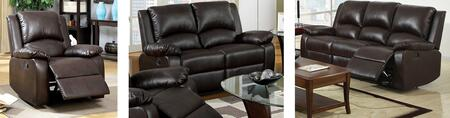 Oxford Collection CM6555-SLR 3-Piece Living Room Set with Motion Sofa  Motion Loveseat and Recliner in Rustic Dark