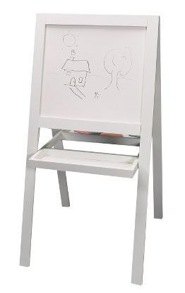 4645 Art Easel Solid Wood Dry Erase Whiteboard and Chalk