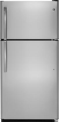GE 20.8 Cu. Ft. Top-Freezer Refrigerator Stainless steel GTS21FSKSS
