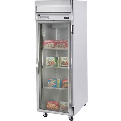 HFPS1-1G Horizon Series One Section Glass Door Reach-In Freezer  24 cu.ft. Capacity  Stainless Steel Exterior and