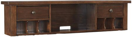 """Wassner H58446 60"""" Home Office Short Desk Hutch with 2 Drawers  Mail Sorter  Open Cubbies  No-Fuss Hardware and Mango Veneers Construction in Dark Brown"""