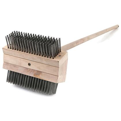 90043 Heavy Duty Grill Brush with 48 inch  Handle  7.75  Double-Sided Head and Long Stainless Steel