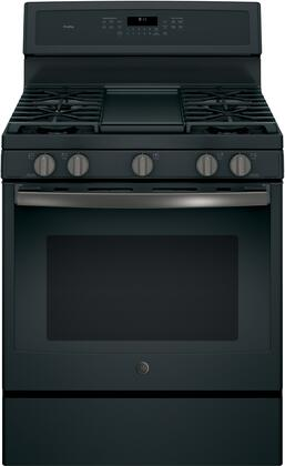 PGB911FEJDS 30 inch  Freestanding Gas Range with with 5.6 cu. ft. Capacity  5 Burners  Edge-To-Edge Cooktop  Convection  Self-Clean and Electronic Touch Controls