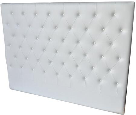Miles Collection Cb-233hb-kw King Size Bed Headboard With Button Tufting  Medium-density Fiberboard (mdf) And Eco-leather Upholstery In White