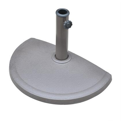 NU5420 20 lbs. Resin Half Round Umbrella Base with Corrosion Resistant Finish  9.85 inch  Metal Stem and Textured in