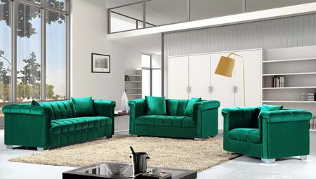 Kayla Collection 739465 3-Piece Living Room Sets with Stationary Sofa  Loveseat and Living Room Chair in