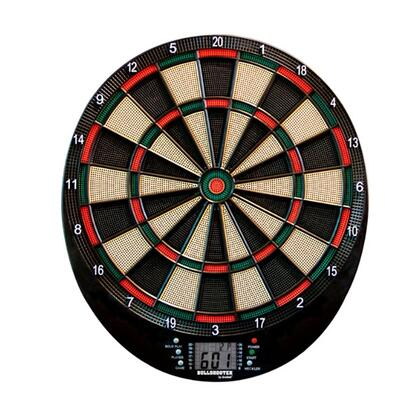 EDB100 Volt 13.5 inch  Electronic Dartboard with Six Soft Tip Darts  Extra Tips  Mounting Hardware  Game Instructions  and Operating