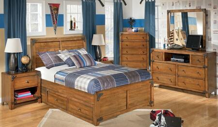 Delburne Twin Bedroom Set With Panel Bed  Dresser  Mirror And Nightstand Medium