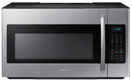"ME18H704SFS 30"" Over The Range Microwave Oven with 1.8 cu. ft. Capacity  1000 Cooking Watts  10 Power Levels  Sensor Cooking Options  Ceramic Enamel Interior"