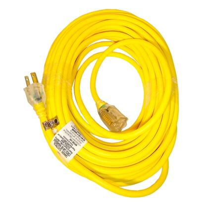 Power Joe 14 Gauge 50 Ft Low Temp Extension Cord with Lighted End  3-Conductor  15 Amp rating with Thermoplastic