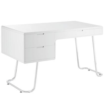 EEI-1185-WHI Swing Office Desk in White
