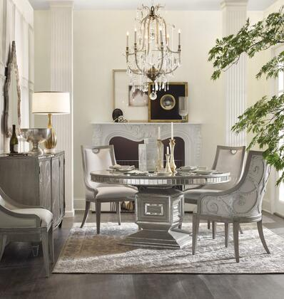 5603-RDT2AM2SC 5-Piece Sanctuary Collection Dinining Room Set with Round Dining Table + 2X Arm Chairs + 2X Side Chairs  in