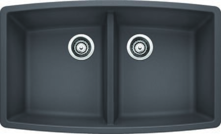 441473 Performa Silgranit Equal Double Bowl Kitchen Sink In