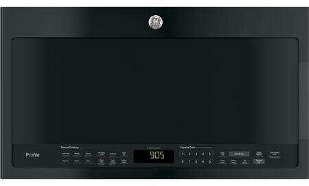 GE PVM9005DJBB Profile Series 2.1 Cu. Ft. Over-the-Range Microwave with Sensor Cooking Black