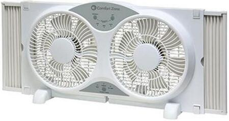 CZ310R 24 inch  Twin Window Fan with 3 Fan Function  3 Speed Push Button Control  Expandable to 37 inch   Locking Expanders and Remote Control  in