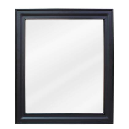 MIR057 Bath Elements 20 inch  x 24 inch  Black Douglas mirror with Beveled