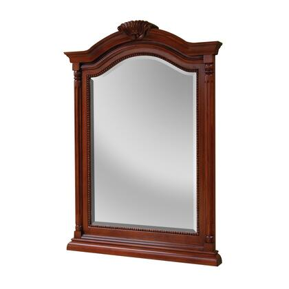 WIM2635 Wingate Collection Matching Mirror Decorative Frame and Beveled Mirror in a Deep Cherry