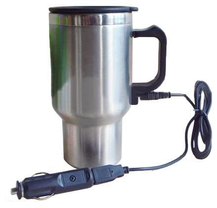 402432 12V USB Travel Mug with Ergonomic Design  Double Wall Vacuum Insulation and Heat-retaining Air-tight Lid in
