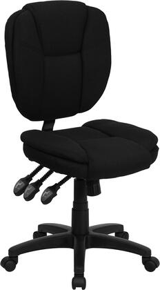 GO-930F-BK-GG Mid-Back Black Fabric Multi-Functional Ergonomic Task
