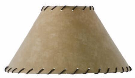 900-059 Parchment Lamp Shade w/ Leather Trim