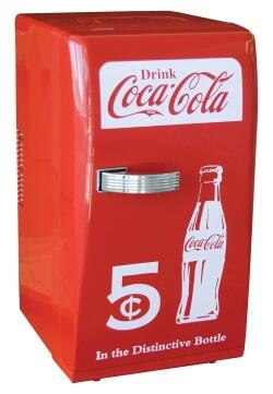 CCR-12 Coca-Cola 11 inch  Retro Refrigerator with 18 Can Capacity