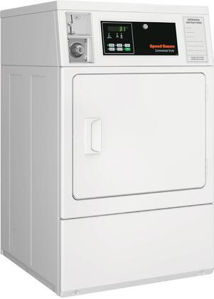 SDGNCAGS113TW01 Single Load Gas Dryer with 7 Cu. Ft. Capacity  QUANTUM Controls  Reversible Solid Door  Upfront Lint Filter  5 Temperature Settings and 5350