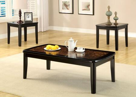 Hartly Collection CM4316-3PK 3-Piece Living Room Table Set with Coffee Table and 2 End Tables in