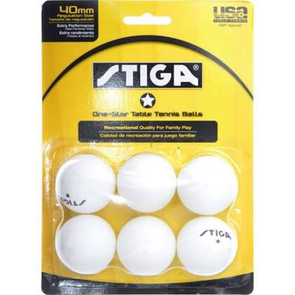 T1412 Recreational Quality Family Play Tennis Table 6-Pack One-Star White