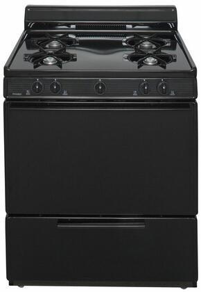 """Premier 30"""" Freestanding Gas Range Black Sfk100bp"""