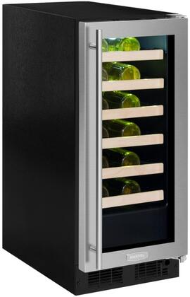 Marvel ML15WSG2RS 15 Inch Built-In Single Zone Wine Cooler with 24 Bottle Capacity, in Stainless Steel