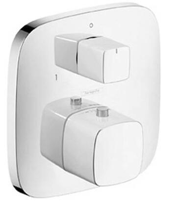 15771001 Double Handle Thermostatic Valve Trim with Volume Control and Diverter from the PuraVida Collection: