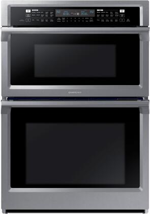 "NQ70M6650DS 30"" Double Wall Oven with 5.1 cu. ft. Total Capacity  Dual Convection Oven  Steam Cooking  WIFI  Backlit Touch Controls and a Glide Rack  in"