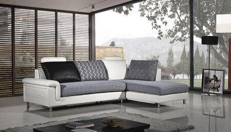 AE-L343 Collection AE-L343L 2-Piece Sectional Sofa with Left Arm Facing Sofa and Right Arm Facing Chaise in Ivory and