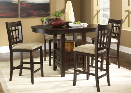 Santa Rosa Collection 20-CD-5PUB 5-Piece Pub Set with Pub Table and 4 Barstools in Merlot
