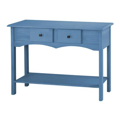 "CS51001 Jay 49.21"" Sideboard Entryway with 2 Full Extension Drawers in Blue"