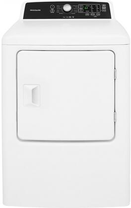 Frigidaire FFRG4120SW 27 Inch Gas Dryer with 6.7 cu. ft. Capacity, 10 Dry Cycles, 4 Temperature Settings, Delay Start, DrySense in White