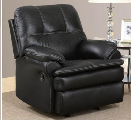 U1078-C Printed Microfiber Recliner Chair  Plush Seat/Arms/Back  with Reclining Mechanism  in