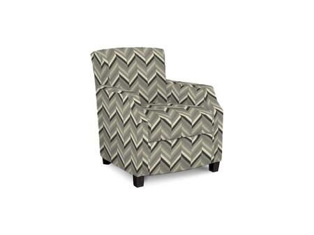Comiskey Connection 1149-02/BE67-9 28 inch  Accent Chair with Fabric Upholstery  Tapered Wood Legs  Tight Back and Contemporary Style in Woven Geometric