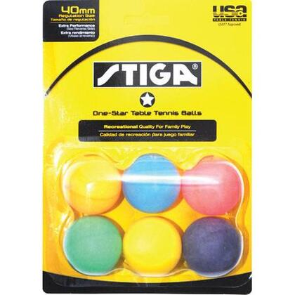 T1402 Recreational Quality Family Play Tennis Table 6-Pack One-Star Multicolor