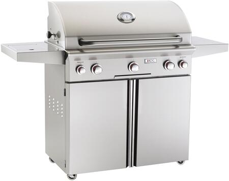36NCT 62 inch  Freestanding Gas Grill with 648 sq. in. Cooking Surface  Analog Thermostat  Three 16500 Btu Burners  in Stainless Steel