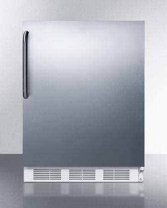 ALB651CSS 24 inch  ADA Compliant Dual Evaporator Undercounter Refrigerator with 5.1 cu. ft. Capacity  2 Adjustable Wire Shelves  3 Door Bins  Adjustable Thermostat