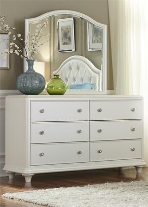 Stardust Collection 710-YBR-DM 2-Piece Bedroom Set with Dresser and Mirror in Iridescent White