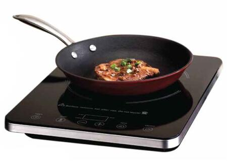 C1813 Single Induction Cooktop with High Quality Glass Cooking Surface  LED Control  Cast Iron Fry Pan  and Portable  in