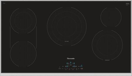 CET366TB 36 inch  ADA Compliant Masterpiece Series Electric Cooktop with 5 Heating Elements  CookSmart  Dual Zone Bridge Element  and Touch Control Panel  in