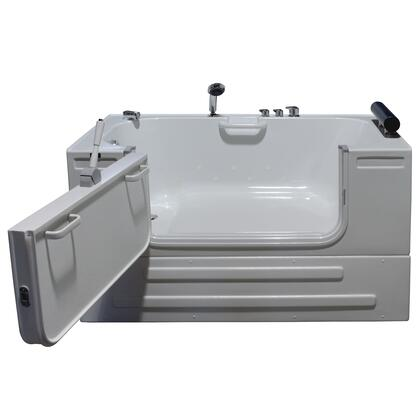 Neptune Series HY-1242L 59 inch  Sit-In Tub with Heated Air Jet System with Head Rest Pillow  Safety Grab Bars and Front Access Panel: Left Side