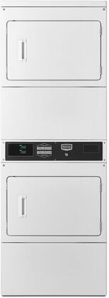 MLE26PRBYW 27 inch  Stacked Electric Dryer on Dryer with 7.4 cu. ft. Capacity per Pocket  Four Roller Suspension  Advanced Computer Trac  Front Access  Card Ready